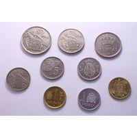 Монеты Испании - 9 штук.