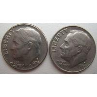 США 10 центов 1974 (D), 1982 (P) гг. Цена за 1 шт.