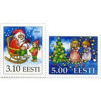 Эстония 1998 г. Рождество  (2 м)