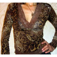Кофта -стреч леопард