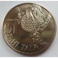 """Токелау 1 тала 1978 """"Кокос, королева Елизавета II"""", тираж: 10 тыс. (редкость, в футляре)"""