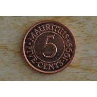 Маврикий 5 центов 1999