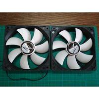 Вентилятор/кулер Zalman ZA1225ASL (SL) Quiet White Fan 120mm 12V (2 шт.)