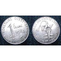 W: Западная Африка 1 франк 1984, западные африканские штаты (930)