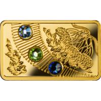 """Ниуэ 5 долларов 2013г. """"Волшебный календарь счастья: Осень"""". Монета в капсуле; сертификат. ЗОЛОТО 5гр."""