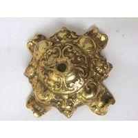 Старое тяжелое основание, нижняя часть подсвечника, светильника Декоративный элемент Латунь/бронза