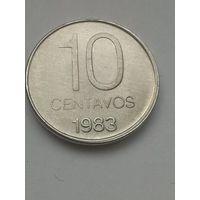 Аргентина 10 сентаво 1983