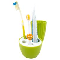 Подставка для зубных щеток со стаканом