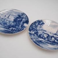 Винтажные тарелки пара Виллерой & Бох.
