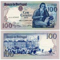 Португалия. 100 эскудо (образца 1984 года, P178c, подпись 1, UNC)