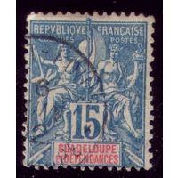 1 марка 1892 год Гваделупа 32