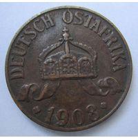 Германская Восточная Африка 1 геллер 1908 J.  3-161