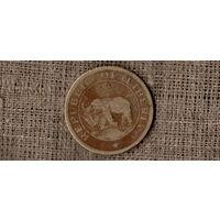 Либерия 2 цента 1937 /фауна/слон// (AR)