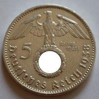 Германия, 5 марок 1938 A (серебро)