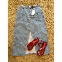 Юбка джинсовая Zara размер L