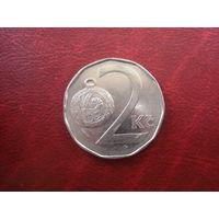 2 кроны 1993 год Чехия