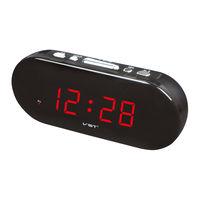 Настольные Сетевые LED Часы VST-712, Будильник