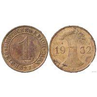 YS: Германия, 1 рейхспфенниг 1932A, KM# 37 (2)