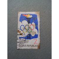 Чехия. 100лет Олимпийским комитету. 1994г. гашеная
