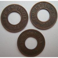 Британская Индия 1 пайс 1944, 1945 гг. Цена за 1 шт. (g)