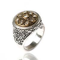Перстень с камушками из горного хрусталя