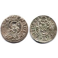 Шеляг 1620, Сигизмунд III Ваза, Рига, Остатки штемпельного блеска