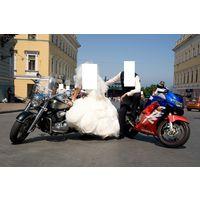 Кортеж из мотоциклов ( свадебный, или любой иной )