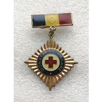Знак. Почетный донор. Румыния. Медицина. Здравоохранение. Тяжелый металл #0020