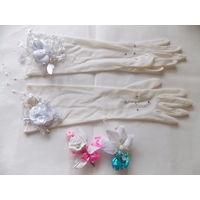Свадебные перчатки и бутоньерки ретро