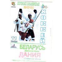 Хоккей. Беларусь - Дания. Кубок Полесья.2011.