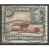 Кения Уганда и Танганьика. Король Георг VI. Озеро Найваша. 1938г. Mi#57.