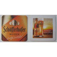 """Подставка под пиво """"Schofferhofer"""".Германия."""