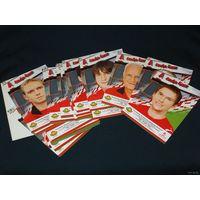 Набор открыток . Сборная Беларуси по футболу 2009 г
