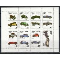 Оман /1977/ Ретро Автомобили / ЧИСТЫЙ Лист 8 Марок