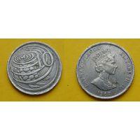 Каймановы острова 10 цент 1987г.