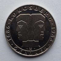 Норвегия 5 крон. 1986. 300 лет норвежскому монетному двору