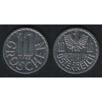 Австрия km2878 10 грошен 1988 год (f30)(b01)n