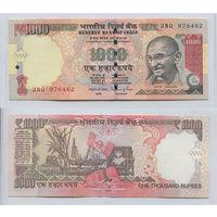 Распродажа коллекции. Индия. 1 000 рупий 2014 года (P-107j - 2011-2018 New Rupee Symbol Issue)