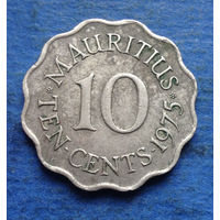 Маврикий Британская колония 10 центов 1975