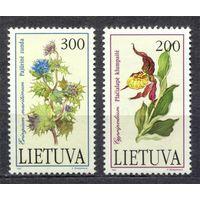 Литва. Флора. Цветы. 1992. Полная серия 2 марки. Чистые