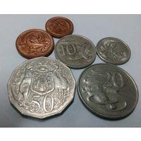 Австралия 1, 2, 5, 10, 20, 50  центов набор из 6 монет