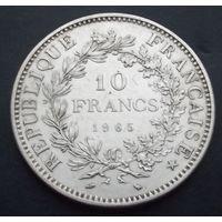 Франция. 10 франков 1965. Серебро! 25gr\0.900. Последний аукцион 2019!