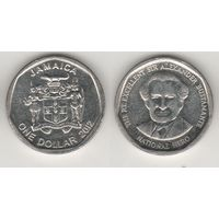 Ямайка km189 1 доллар 2012 год (al)(f16)