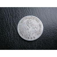 Руанда. 1 франк. 1985 г.