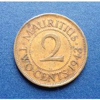 Маврикий Британская колония 2 цента 1943 Георг VI Редкость