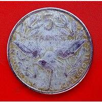 11-03 Новая Каледония 5 франков 1986 г. Единственное предложение монеты данного года на АУ