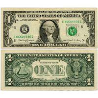 США. 1 доллар (образца 1988 года, 1988A, E, Вирджиния, P480)