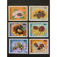 Насекомые опылители цветов. Венгрия,1980, серия 6 марок