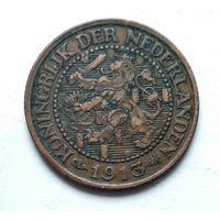 Нидерланды 2.5 цента, 1913 1-9-24