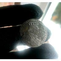 Орт 1754 ес в виде бульдога!! Шикарная монетка в штемпельном блеске!! В коллекцию!